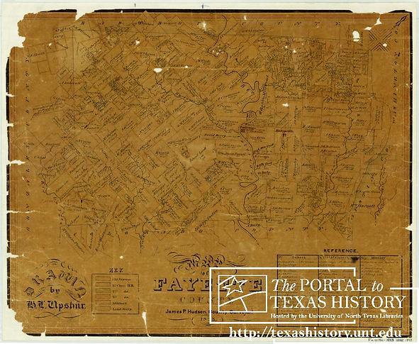 Map of Fayette Co (Horace L Upshur, 1843