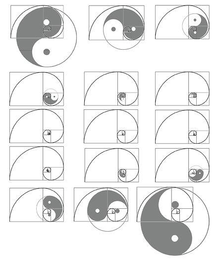 Golden spiral+Taijitu.jpg