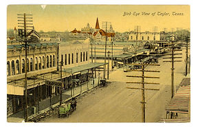 Elevated view of Main St looking NW from