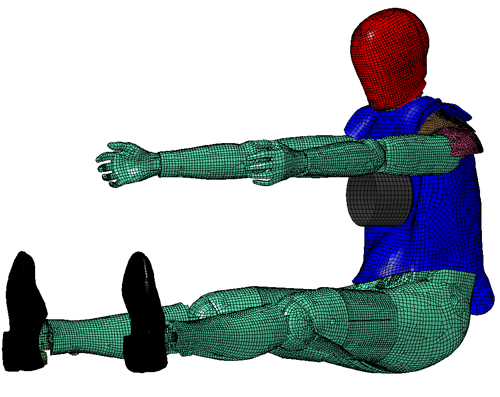 Upper Ribcage Impact Simulation at  peak