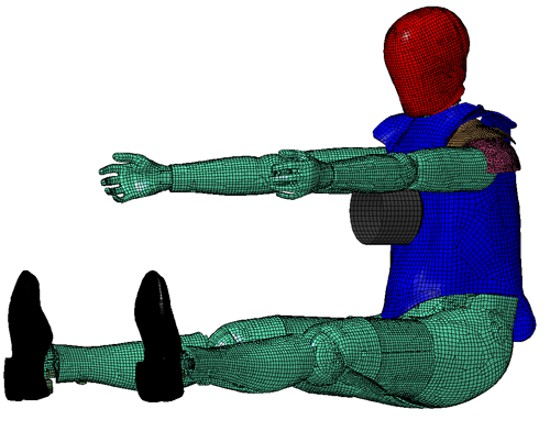 Upper Ribcage Impact Simulation at T is