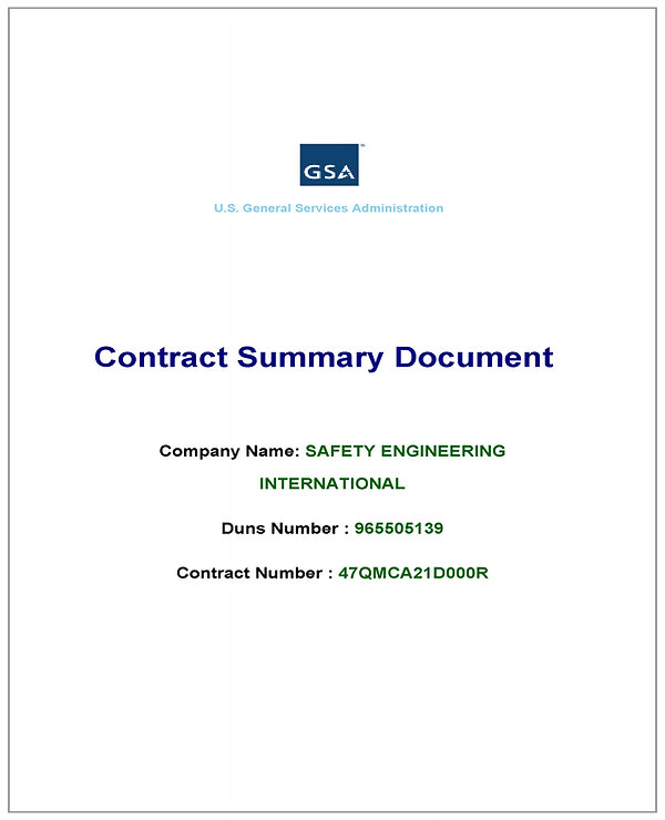 GSA Contract Summary - Safety Engineerin