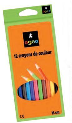 Crayons de couleur x12