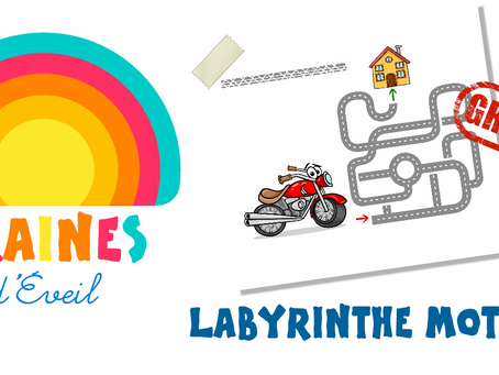 Cadeau Graines d'éveil : le labyrinthe Moto !