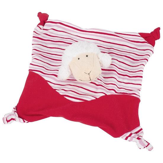 Doudou mouton rouge