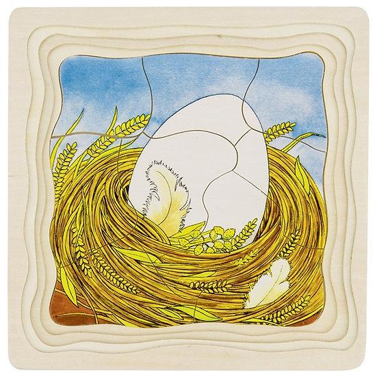 Puzzle à couches - La poule