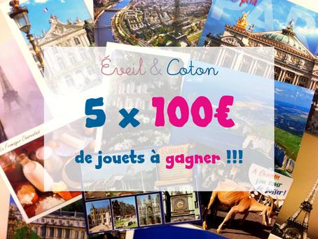 Concours de l'été : 5 x 100€ à gagner !
