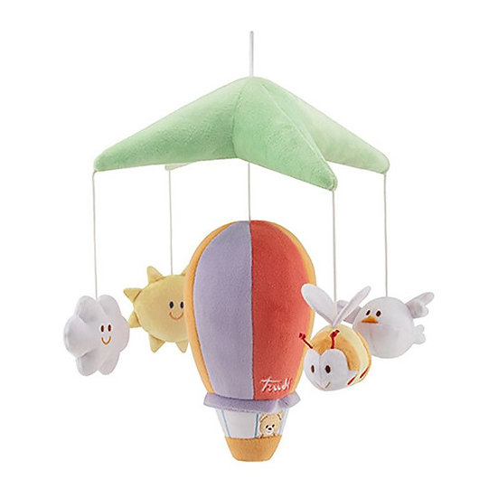 Mobile montgolfière en peluche