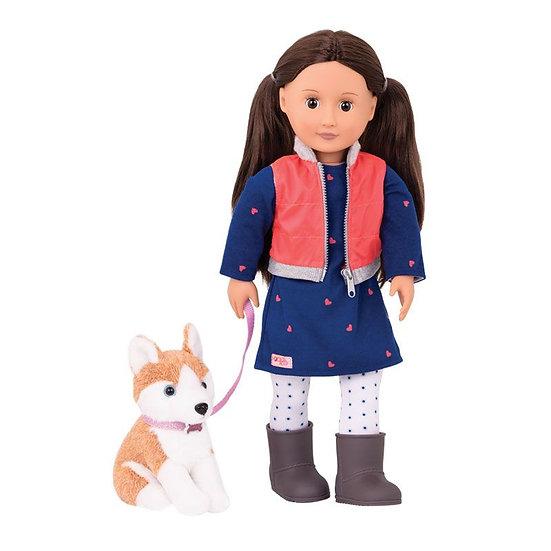 Poupée Deluxe Our Generation - Leslie et son chien