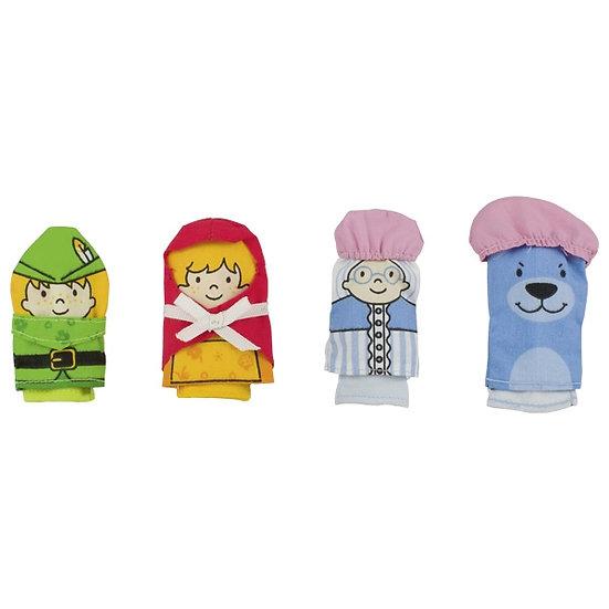 Assortiment de marionnettes à doigt - Petit chaperon rouge