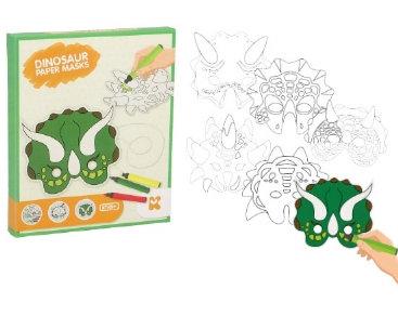 Kit Créatif : Fabrique tes masques Dinosaure