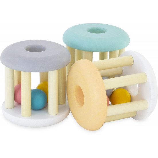Hochet à billes - 3 coloris pastels