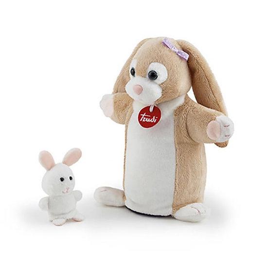 Marionnette peluche avec son bébé - 6 modèles