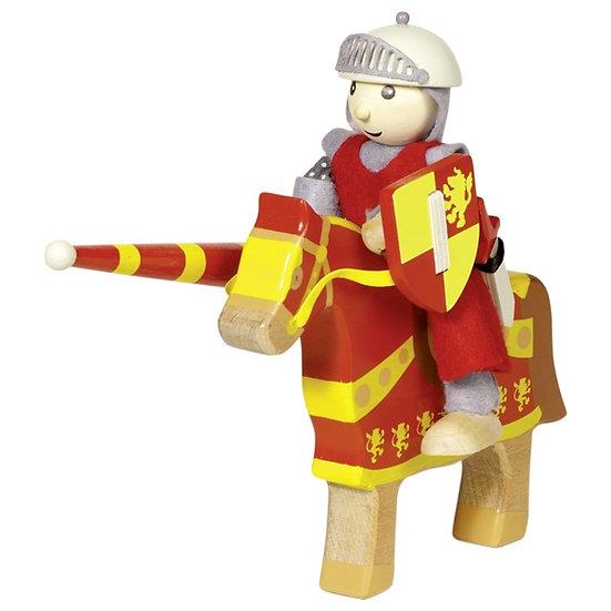 Poupée flexible, chevalier Arthur avec cheval