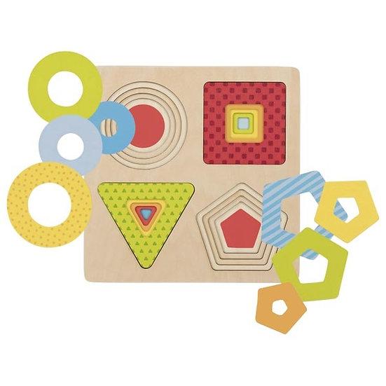 Puzzle à couches - formes