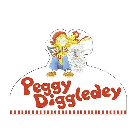 Logo pour étagère, Peggy Diggledey
