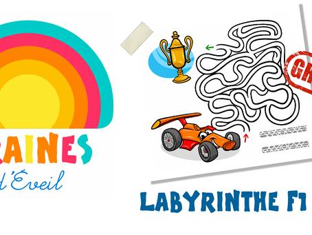 Cadeau Graines d'éveil : le labyrinthe Formule 1 !