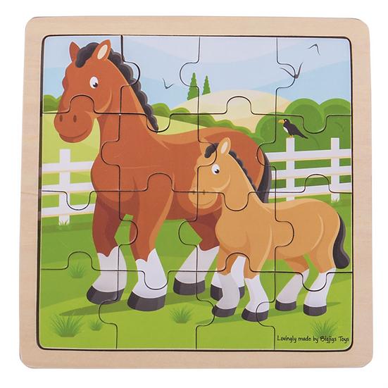 Puzzle animaux 16 pcs - 6 modèles