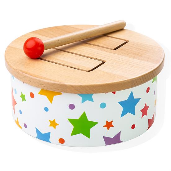 Tambour en bois - Étoiles