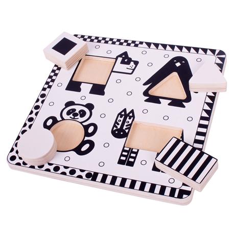 Puzzle Contraste noir et blanc - 2 modèles au choix