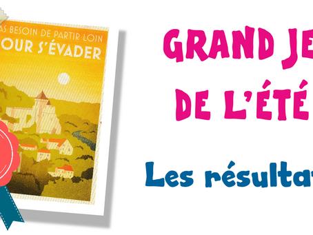GRAND JEU DE L'ÉTÉ : les résultats !