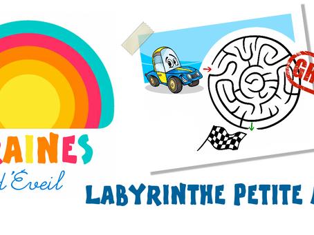 Cadeau Graines d'éveil : le labyrinthe Petite Auto !