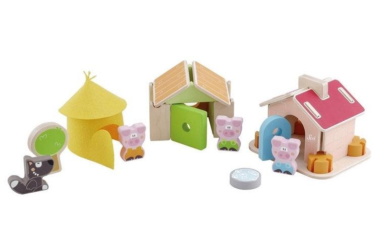 Jeu de construction - Les 3 petits cochons