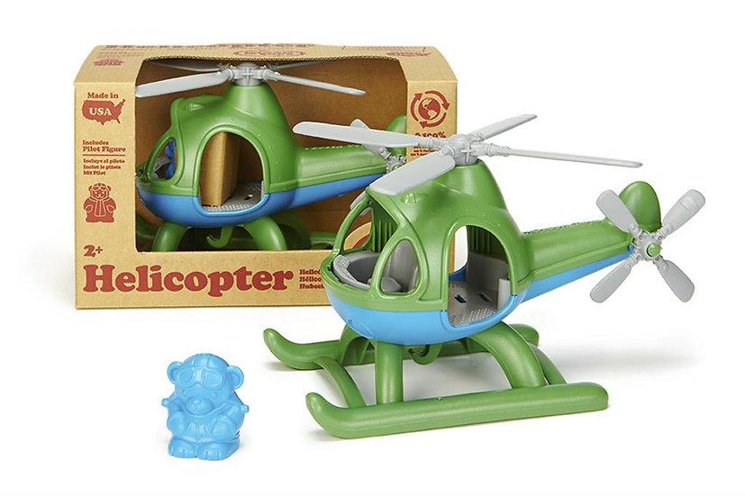 Hélicoptère - vert ou bleu