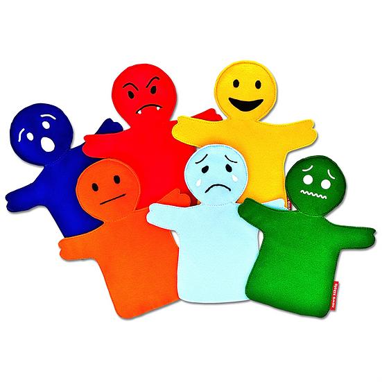 Marionnettes émotionnelles - 6 pcs