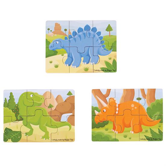Set de 3 puzzles 6 pcs - 4 modèles