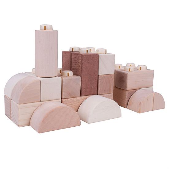 Click Blocks en bois (naturel) - 100 pcs