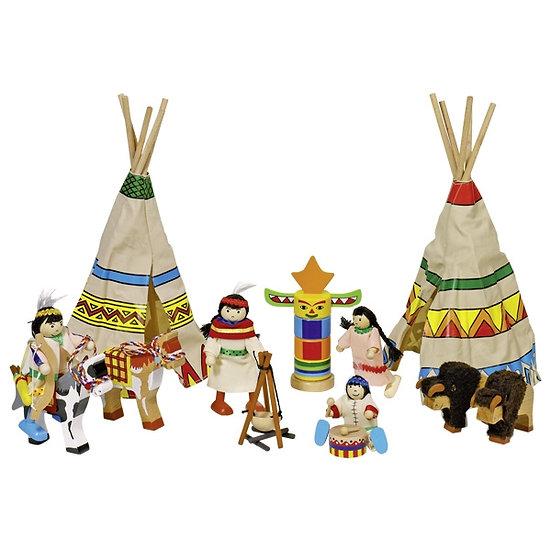 Camp d'indiens