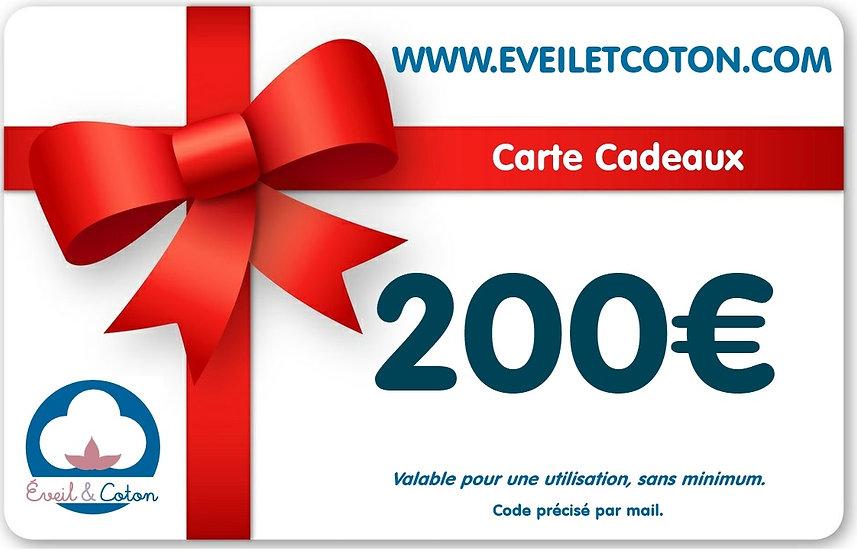 Carte Cadeaux 200€