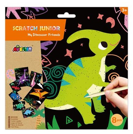 Scratch Art - Dinosaures