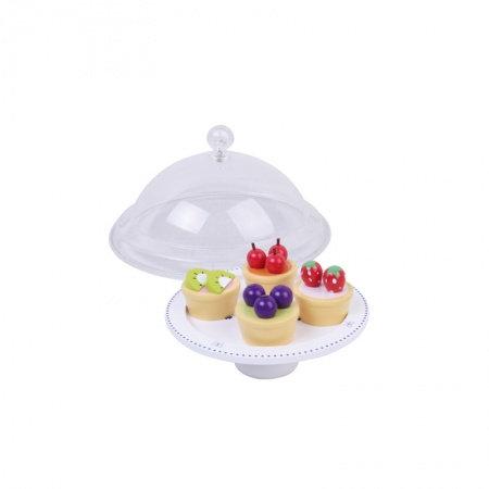 Cloche à gâteau garnie - tartelettes