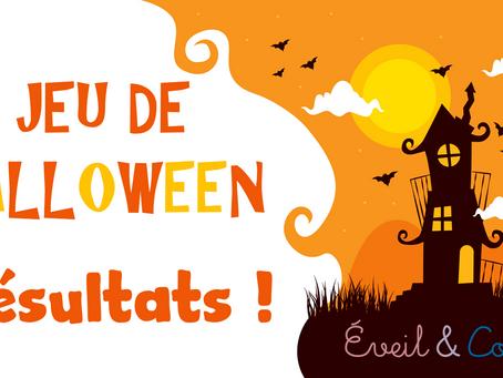 Grand Jeu Halloween : les résultats !