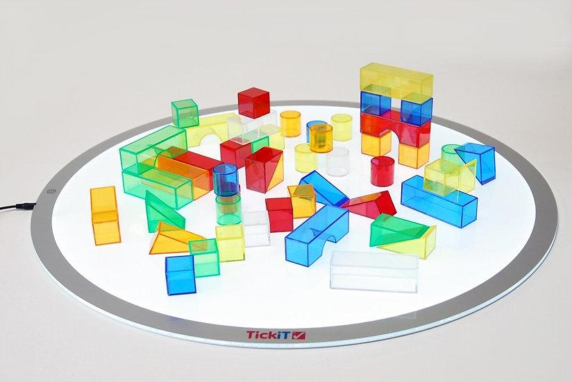 Blocs de couleurs translucides - 50 pièces