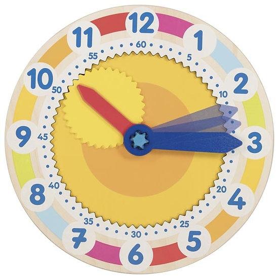 Horloge d'apprentissage avec engrenage