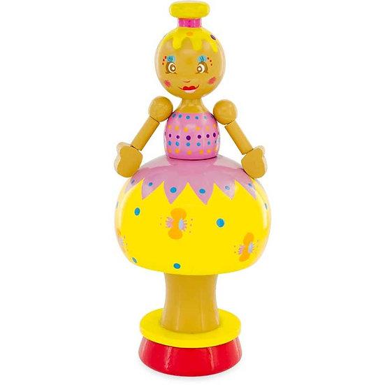 Figurine musicale - poupée jaune