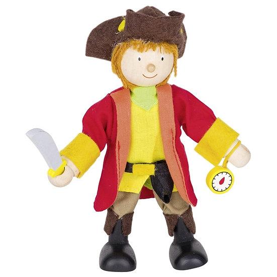 Poupée flexible, capitaine pirate