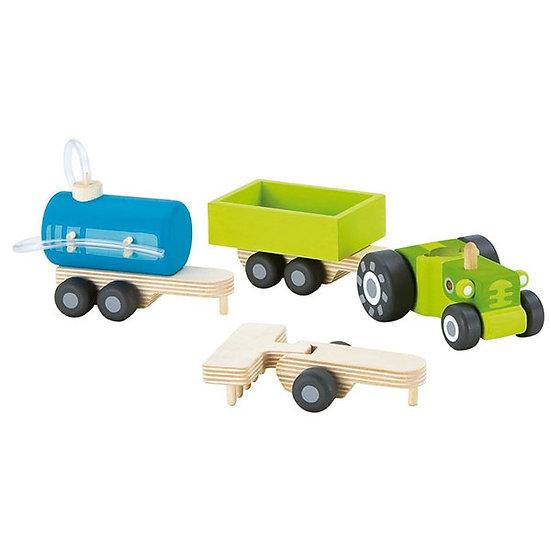 Tracteur avec remorques
