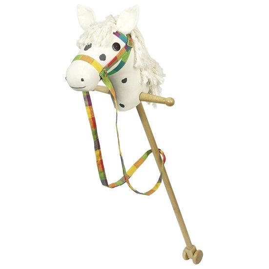 Cheval blanc à bâton