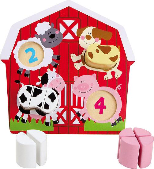 """Puzzle """"Animaux dans la grange"""""""