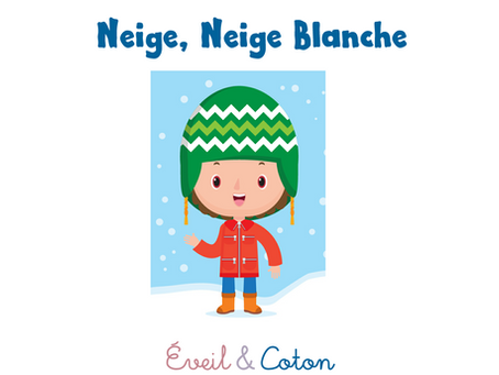 "Fiche Comptine ""Neige neige blanche"""