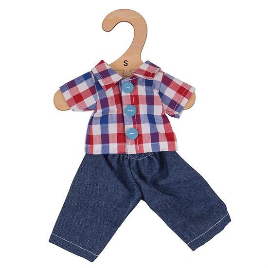 Chemise à carreaux et jeans - 28 cm