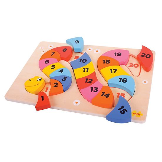 Puzzle - serpent à compter
