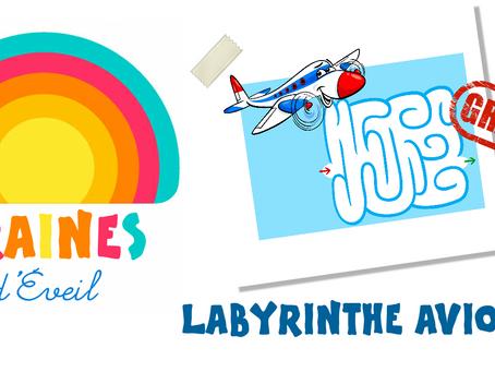Cadeau Graines d'éveil : le labyrinthe Avion !