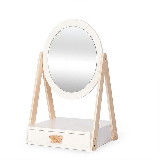 Miroir de table avec tiroir