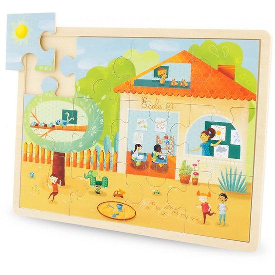 Puzzle 12 pièces - école ou ferme