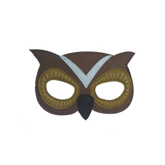 Masque en feutre - hibou